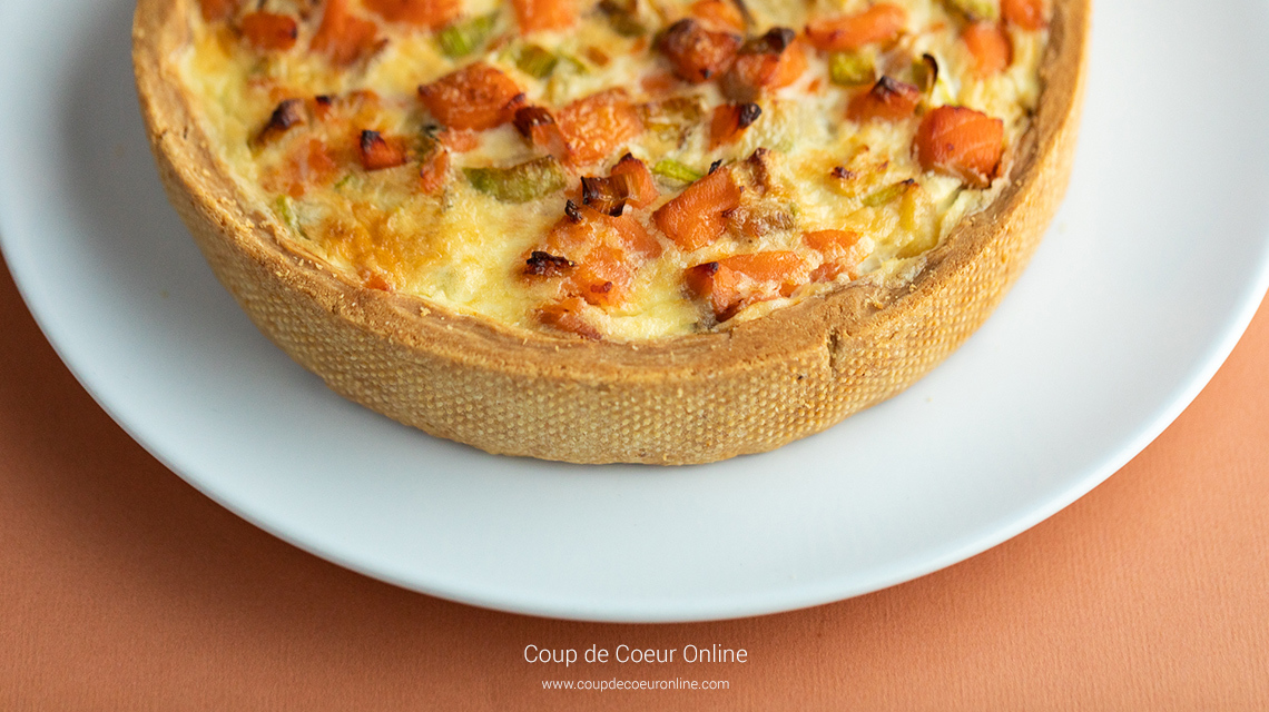 Quiche with red fish, zucchini and leek (Subtitles)