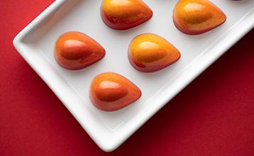 Apricot and tonka bean bonbon